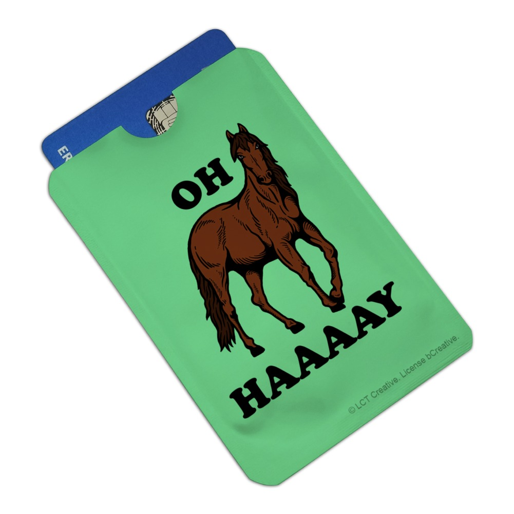 Foal Baby Horse New Paint Credit Card RFID Blocker Holder Protector Wallet Purse Sleeves Set of 4