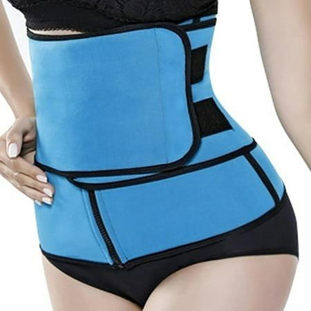 dozenla Women Waist Belt Body Shaper Hot Burner Sweat Wrap Gym Workout Slimming Waist Trainer Tops