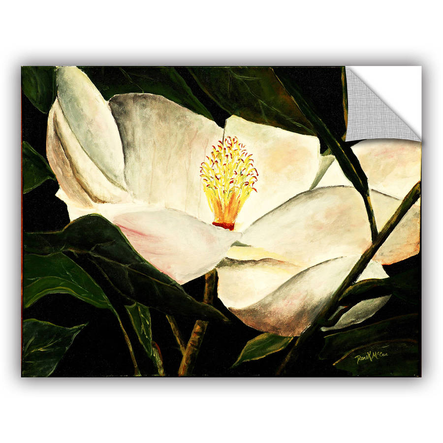 "ArtAppealz Derek Mccrea ""Magnolia Flower 2"" Removable Wall Art"