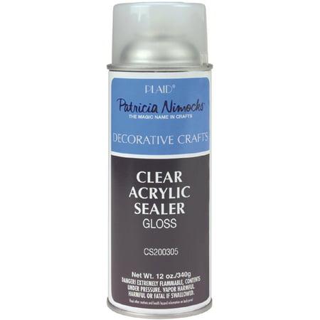 clear acrylic gloss sealer aerosol spray 12 ounces. Black Bedroom Furniture Sets. Home Design Ideas