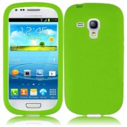 Hard Rubberized Case for Samsung Galaxy S3 Mini i8190 - Neon Green