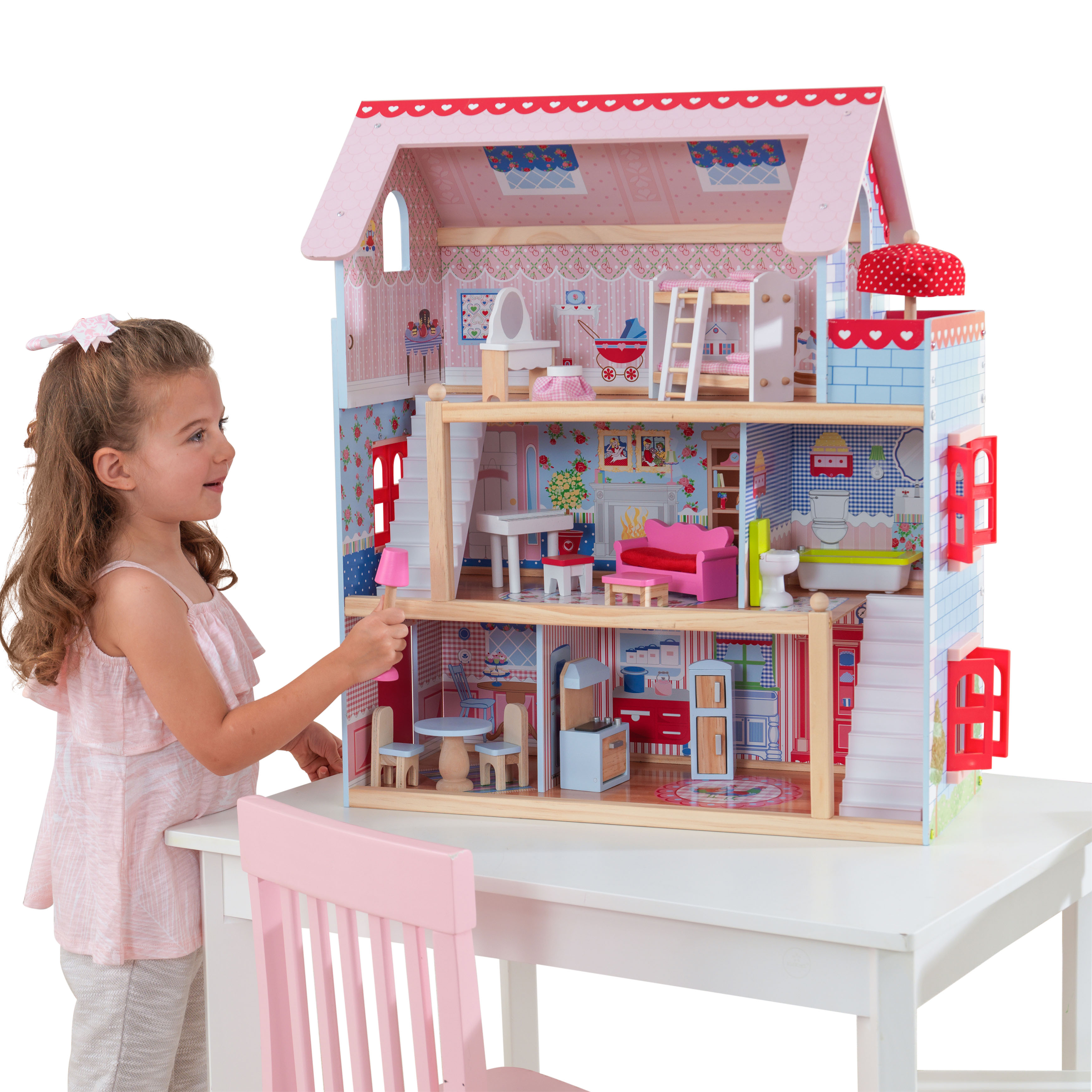 KidKraft Chelsea Doll Cottage with 16 accessories included by KidKraft