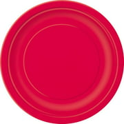 Paper Plates, 9 in, Red, 50ct