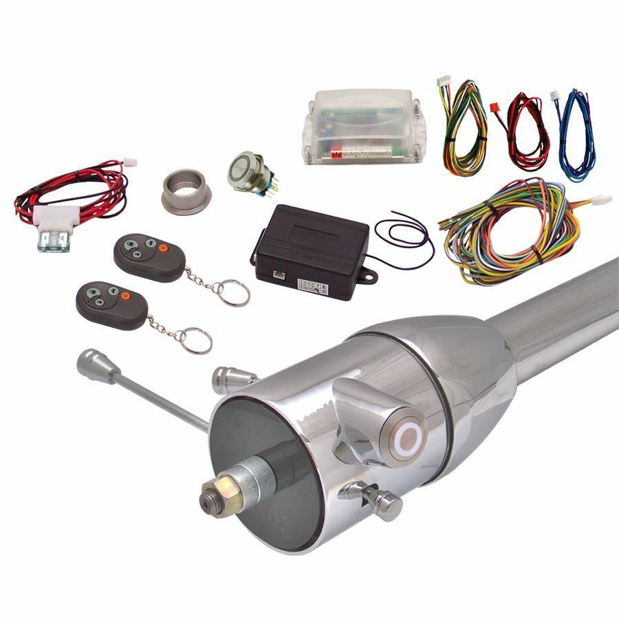 White One Touch Engine Start Kit with Column Insert and Remote auto custom