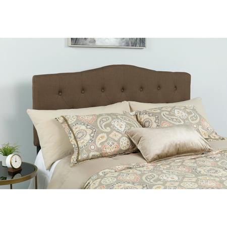 Flash Furniture Cambridge Tufted Upholstered Queen Size Headboard in Dark Brown
