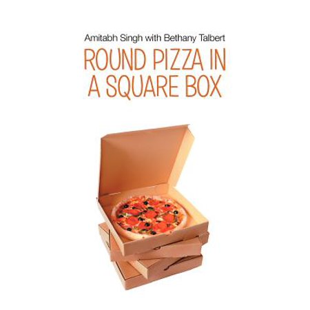 round pizza in a square box. Black Bedroom Furniture Sets. Home Design Ideas