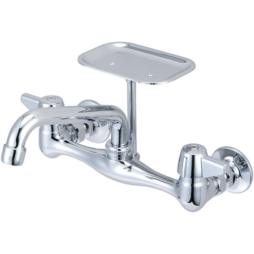 Central Brass Wall Mount Faucet with Centers and Soap Dish