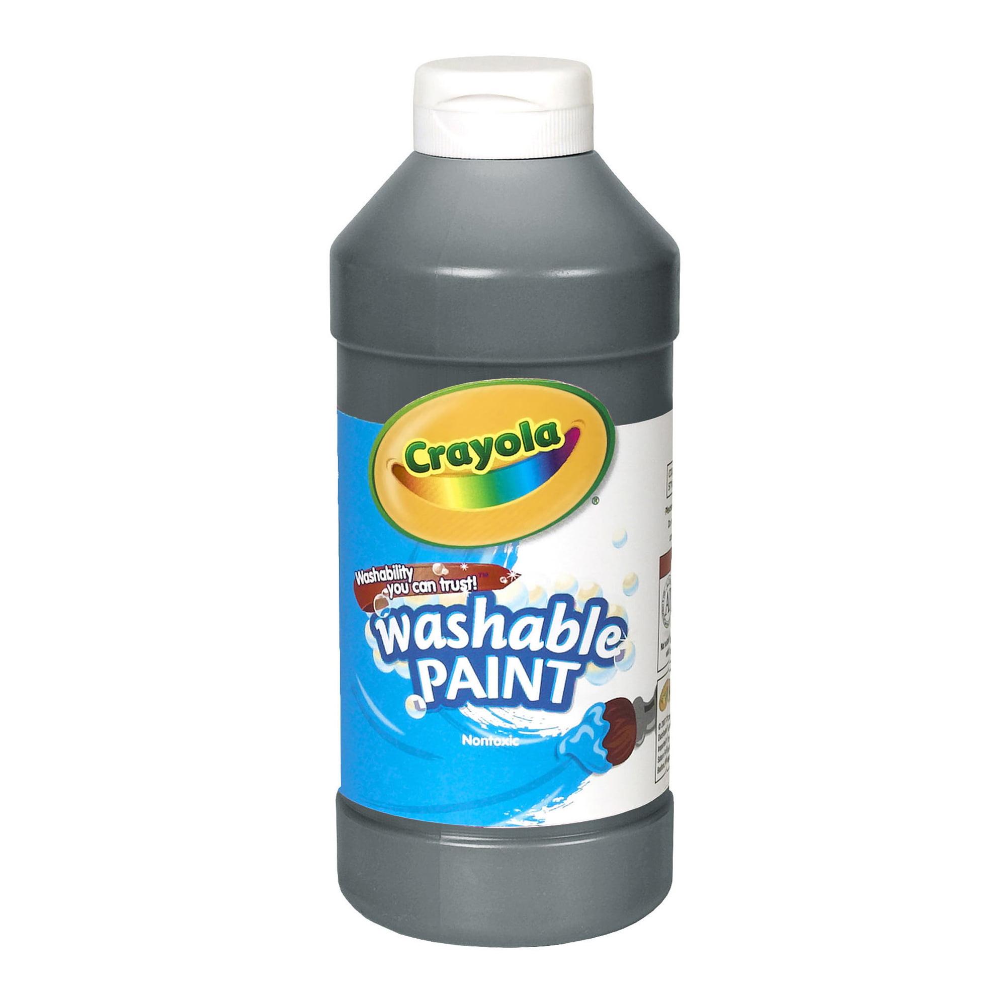 Crayola® Washable Paint, Black, 16 oz., Set of 6 bottles