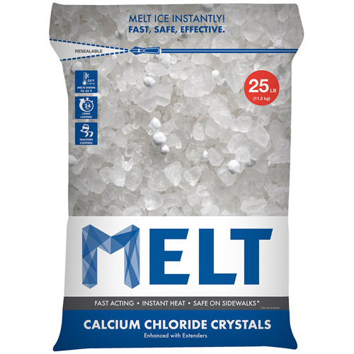 Snow Joe MELT Calcium Chloride Crystals Ice Melter (25 lb. Resealable Bag) – MELT25CC