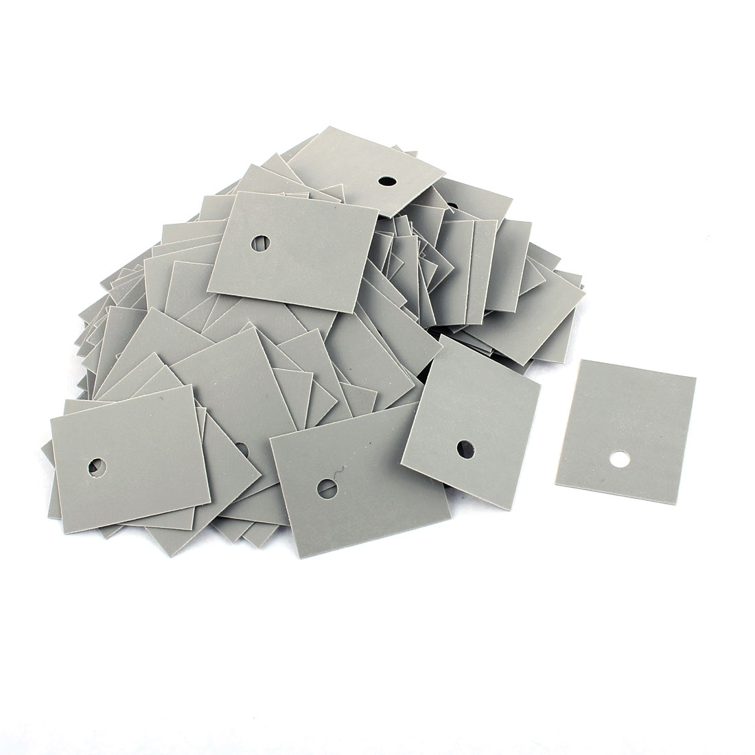 150 Pcs 25mm x 20mm x 0.3mm Silicone Thermal Insulation Pad Sheet - image 2 of 2