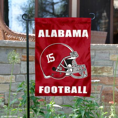Alabama Crimson Tide Football Helmet 13  X 18  College Garden Flag