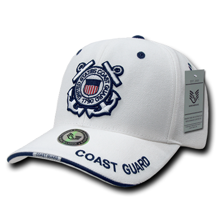 US Coast Guard Official White Military Caps Hats