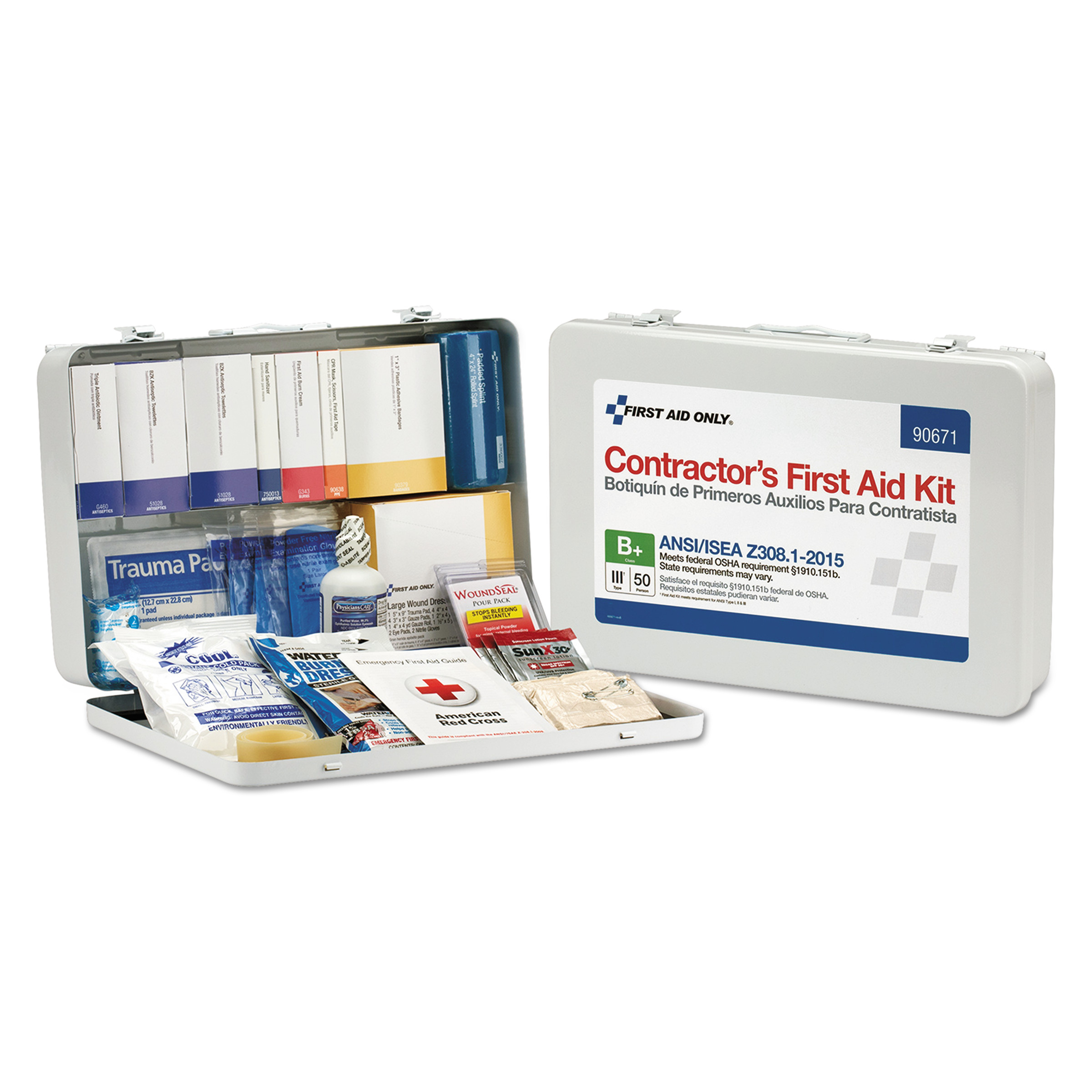 First Aid Only Contractor ANSI Class B First Aid Kit for 50 People, 254 Pieces