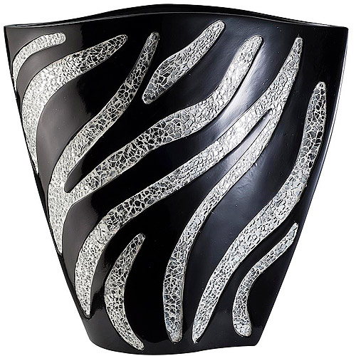 OK Lighting Zebra Decorative Vase, 15""