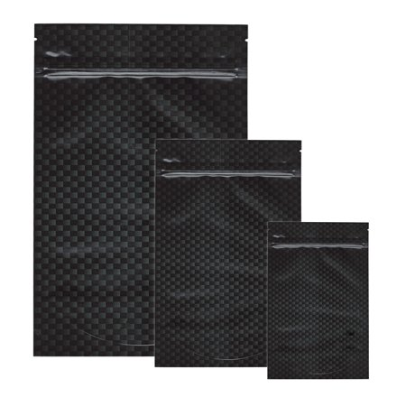 Small Carbon Fiber (15pk - Stealth Smell Proof Bags - Carbon Fiber Small)