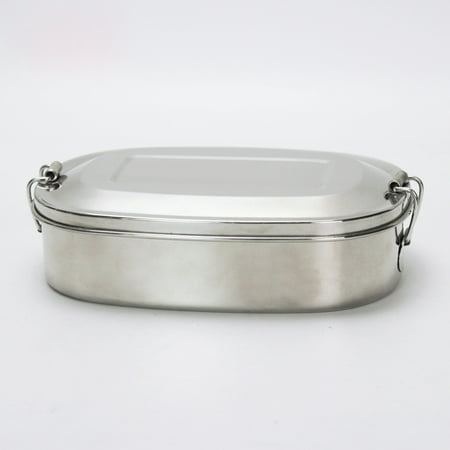 Stainless Steel Food Container - Three Section Design Perfect for Healthy Snacks, Sides, or Finger Foods On The Go - Eco-Friendly, Dishwasher Safe and BPA-Free - All Stainless - Cold Finger Foods For Halloween