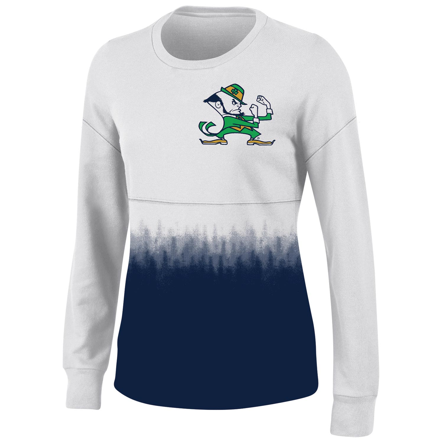 Women's White Notre Dame Fighting Irish Oversized Fan Long Sleeve T-Shirt