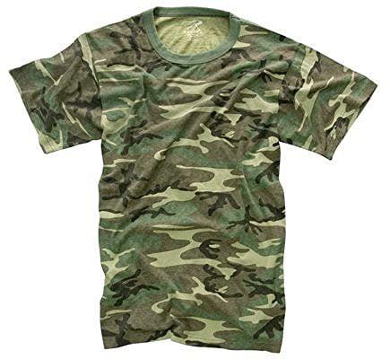 Vintage T-Shirt, Woodland Camo, 2X