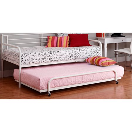 Dorel Home Twin Trundle for Metal Daybed, Multiple Colors - Metal Daybed With Trundle, White - Walmart.com