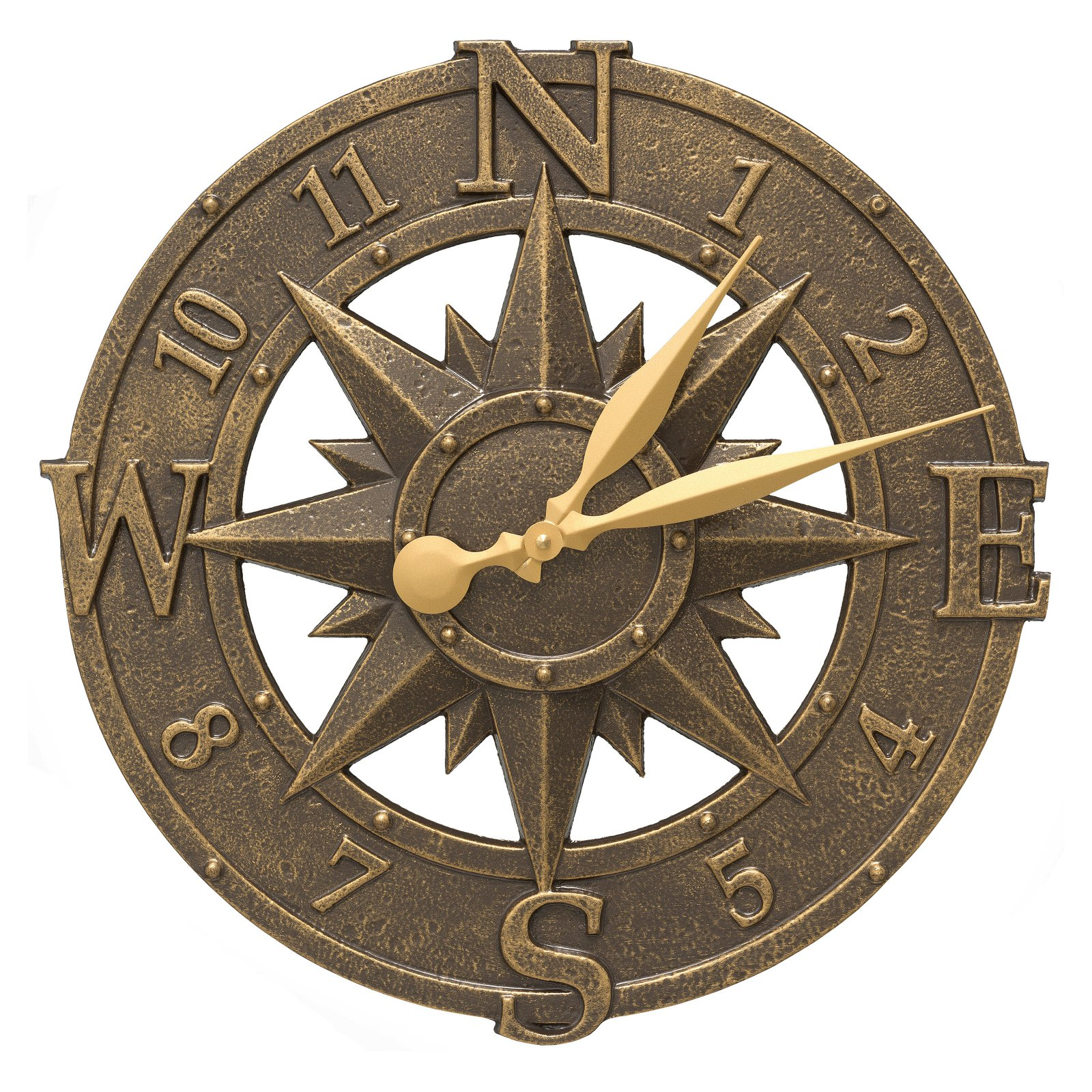 Whitehall Compass Rose 16 in. Outdoor Wall Clock