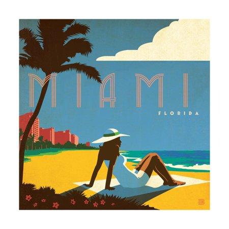 Miami Beach, Florida Print Wall Art By Anderson Design (Miami International University Of Art & Design Miami)