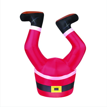 Holiday Time 3.5 ft. Inflatable Santa Legs UL Listed Adapter, Blower, Tether Ropes and Stakes (Inflatable Lego)