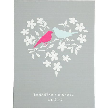 Personalized RedEnvelope Love Birds Gallery Wall Art 12x16 or 18x24