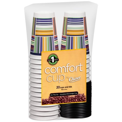 Comfort Cup by Chinet Cups and Lids, 16 oz, 40 pc