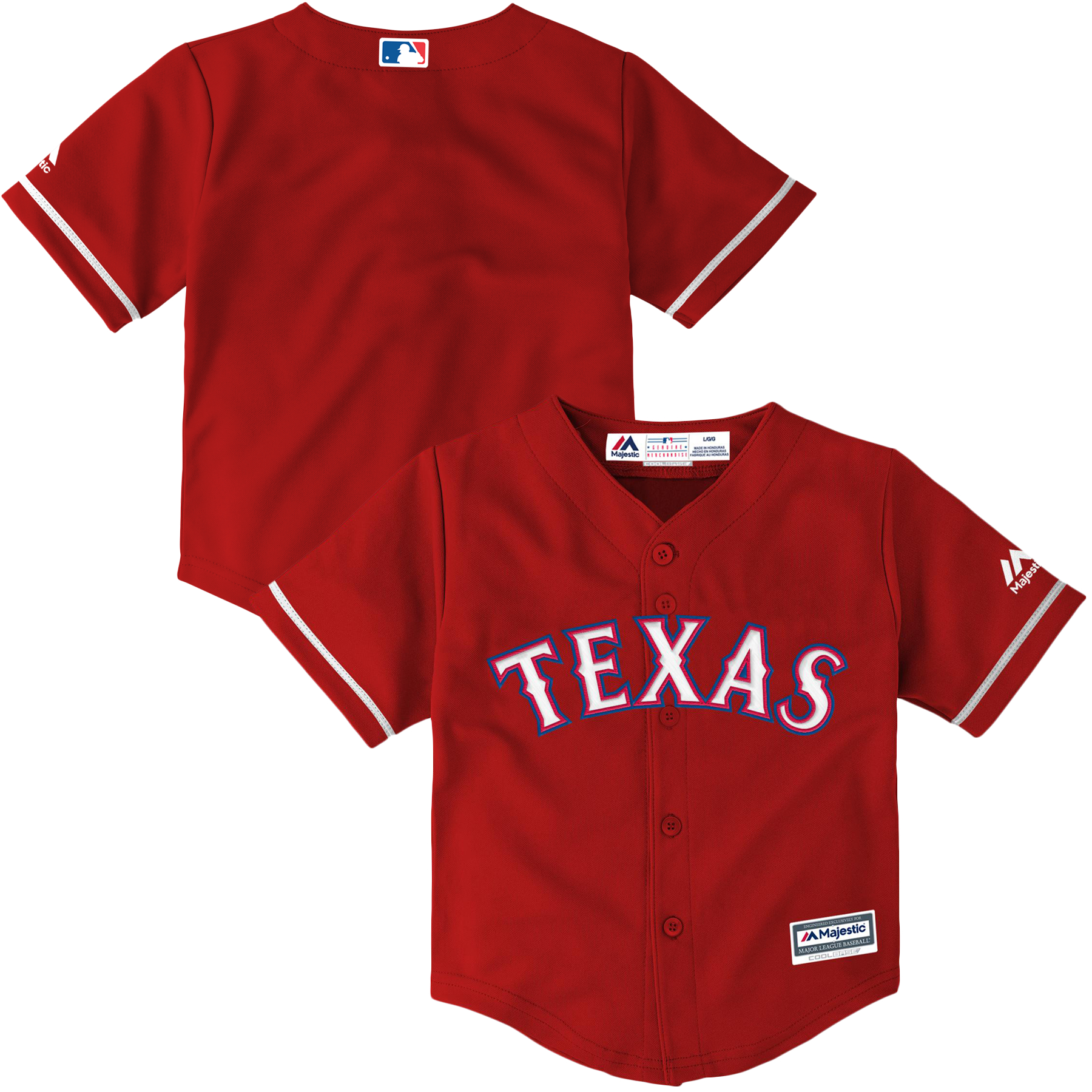 Texas Rangers Majestic Toddler Alternate Official Cool Base Jersey - Scarlet