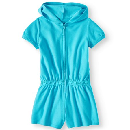 Zip Front Hooded Swim Romper Coverup (Little Girls & Big Girls)