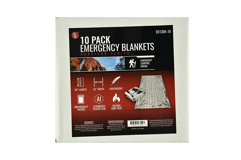 SE EB1309-10 Emergency Blanket, 10-Pack by