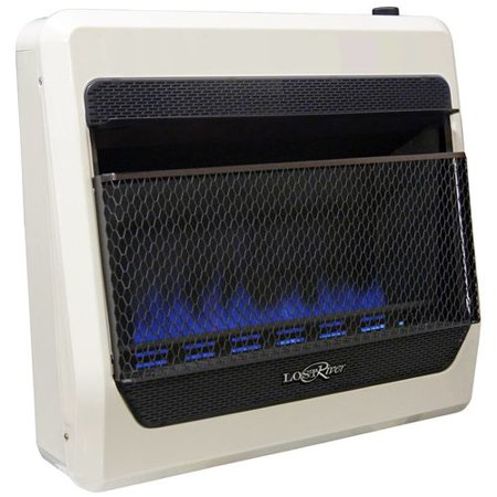 Lost River Natural Gas Ventless Blue Flame Gas Space Heater - 30,000 BTU, Model# LRT30B-NG 45 Free Natural Gas Heater