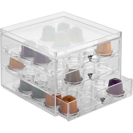 InterDesign Coffee Capsule Place 3-Drawer Storage Container