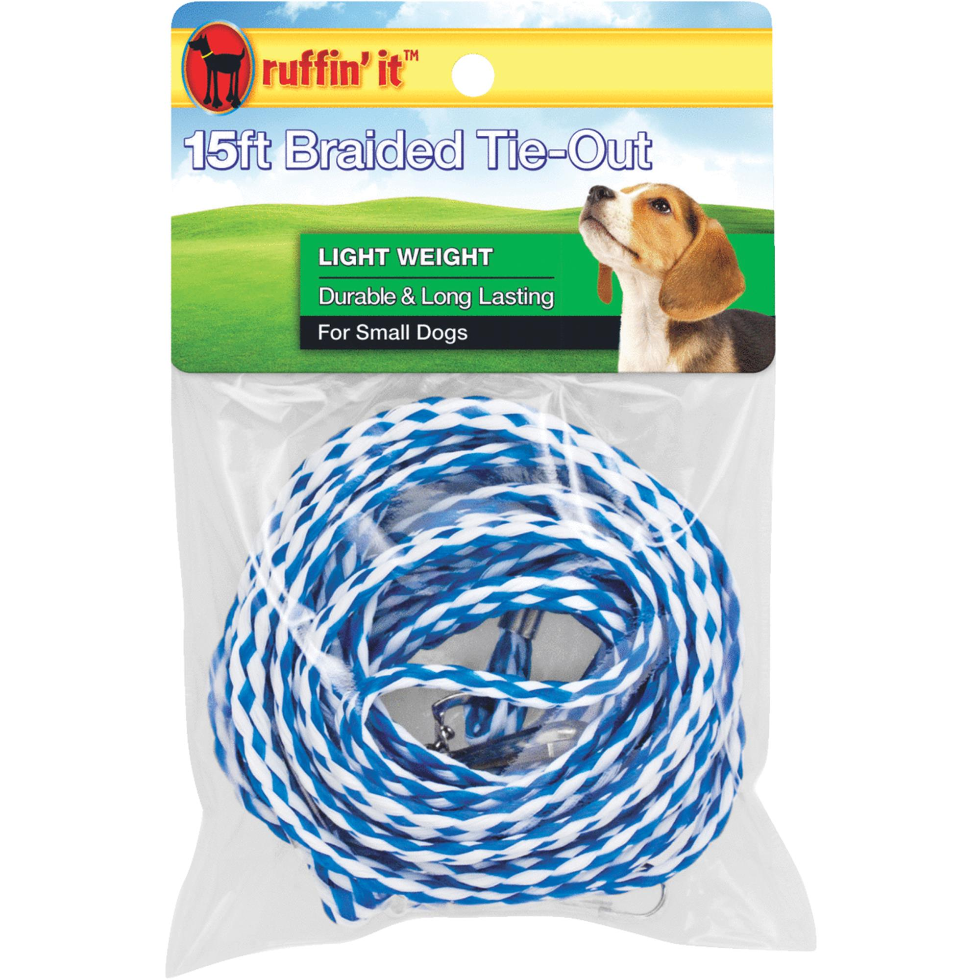 Westminster Pet Ruffin' it Light Weight Dog Tie-Out Braided Rope