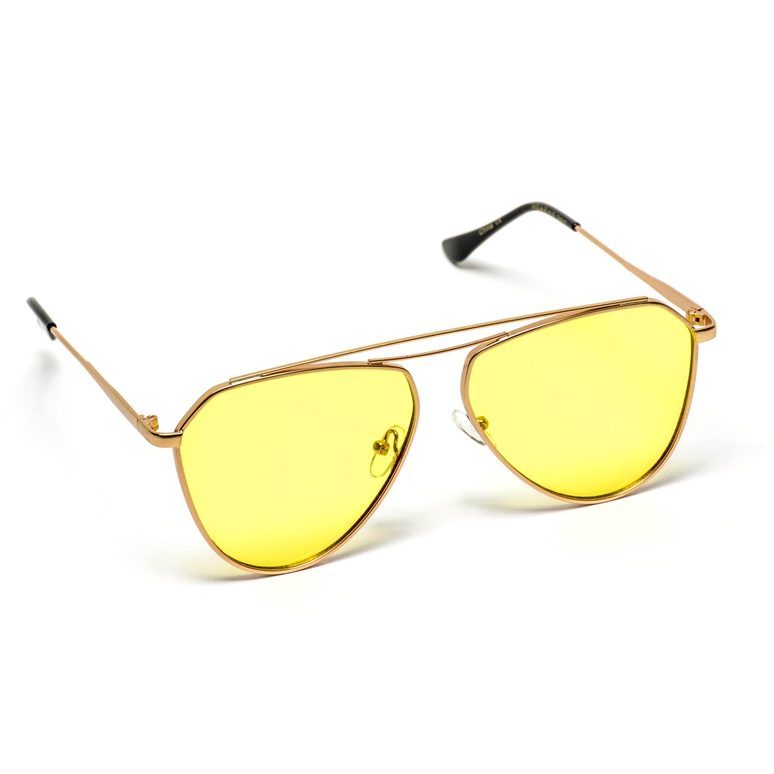 72ff7d82af WearMe Pro - WearMe Pro - Geometric Modern Metal Frame Flat Tinted Lens  Sunglasses - Walmart.com