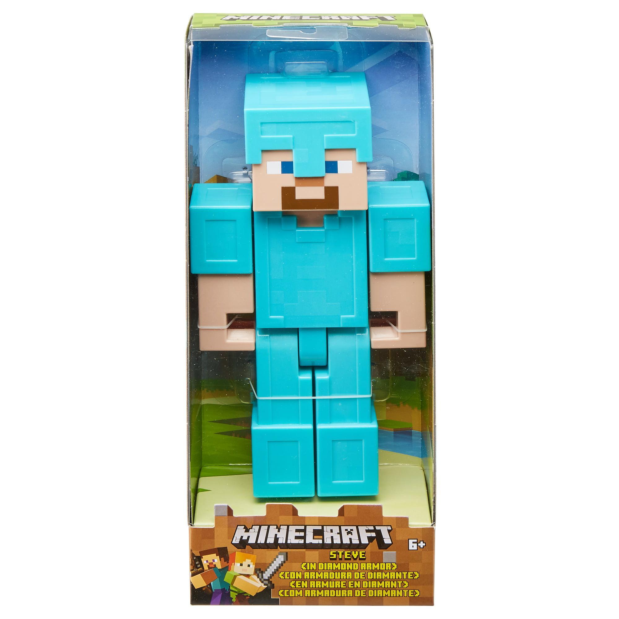 Minecraft Steve In Diamond Armor Large Scale Figure Walmart Com Walmart Com