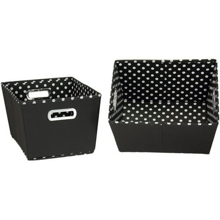 Household Essentials Small Tapered Bins, 2-Pack