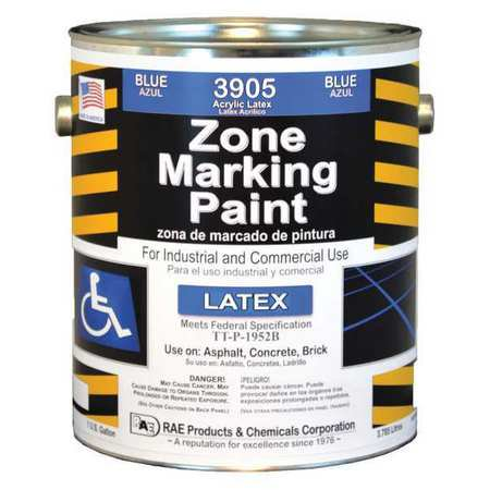 RAE Traffic Zone Marking Paint,Bl,1 gal.