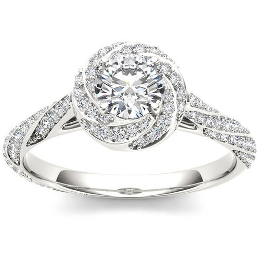 imperial 1 carat t w single halo 14kt white gold