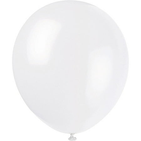Latex Balloons, White, 12in, 72ct - White Balloons With Glow Sticks