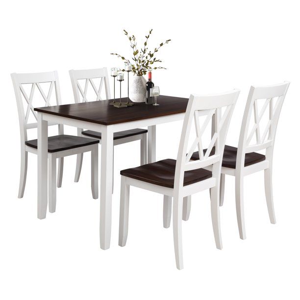clearancewhite dining table set for 4 modern 5 piece