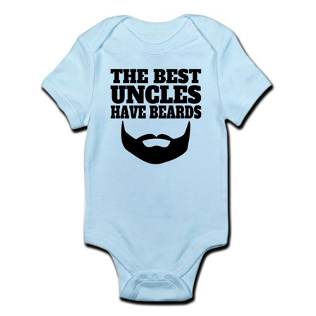 CafePress - The Best Uncles Have Beards Body Suit - Baby Light