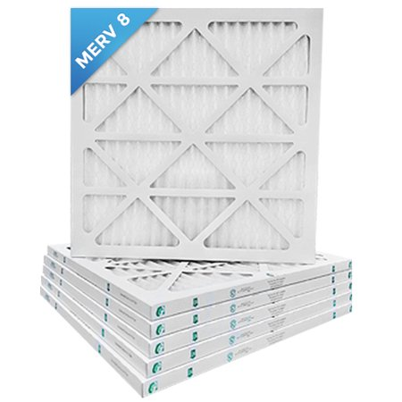 20x25x1 MERV 8 Pleated AC Furnace Air Filters.    6 Pack / $5.49 (Best Filter For Flowerhorn)