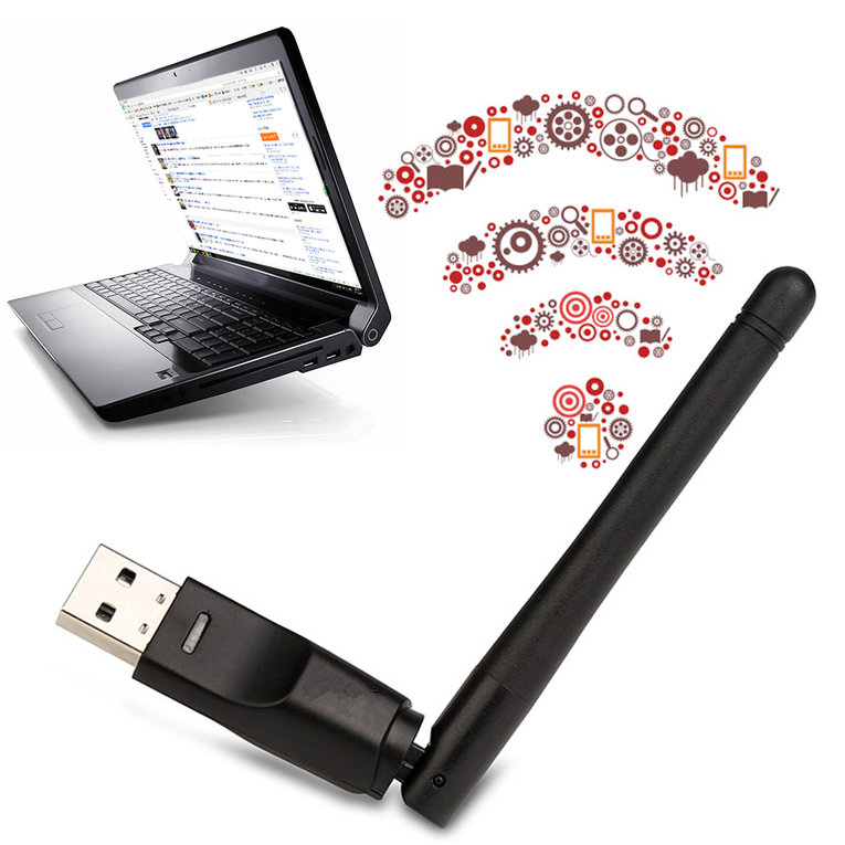 Mini Wireless USB WiFi 150M Network Card LAN Adapter Dongle for PC Laptop