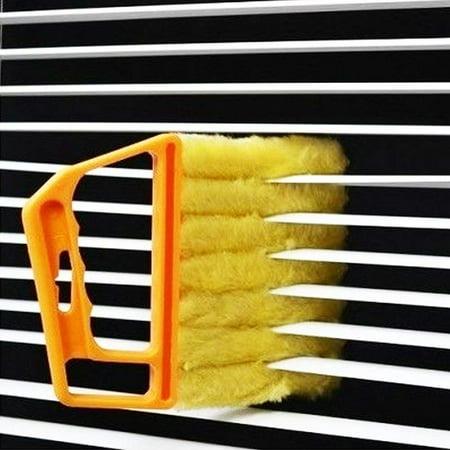 VGEBY 7 Finger Dusting Cleaner Tool Mini Blind Duster Brush Dust Clean Venetian Blind Brush Window Air Conditioner Duster Dirt Cleaner Housework Tool, Washable