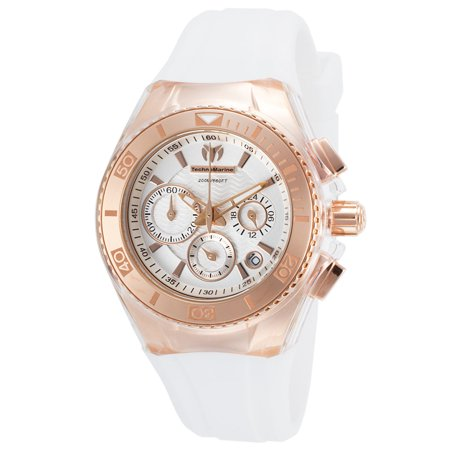 Technomarine TM-115032 Women's Cruise Star Silver Dial Interchangeable Strap Chrono Dive Watch
