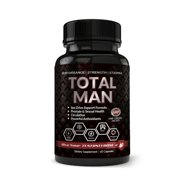 Totally Products Total Man 1600mg with Maca Root Powder Tribulus & Tongkat All-Natural aphrodisiac (60 Capsules)