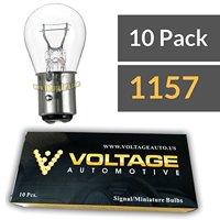 (10 Pack) 1157 Automotive Brake Tail Light Turn Signal Side Marker Light Bulb - Voltage Automotive