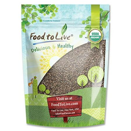 (Food To Live ® Certified Organic Chia Seeds (Raw, Black, Non-GMO, Bulk) (8 Ounces))