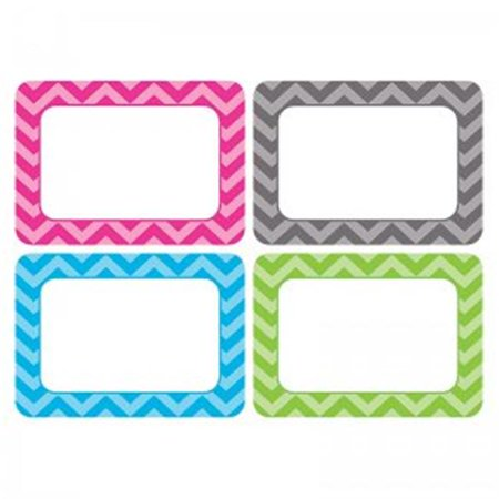 (5 Pk) Chevron Name Tags - Multi Pk These all-new name tags/labels are bigger than ever. The larger writing space comes in handy when using them for name tags, gift tags, or labels for student portfolios or cubbies. 36 name tags per pack, bundle of 5 packs, 180 name tags total